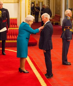 Mr. Gordon Griffin from London is made an MBE (Member of the Order of the British Empire) by Queen Elizabeth II at Buckingham Palace. PRESS ASSOCIATION Photo. Picture date: Tuesday November 7, 2017. See PA story ROYAL Investiture. Photo credit should read: Dominic Lipinski/PA Wire